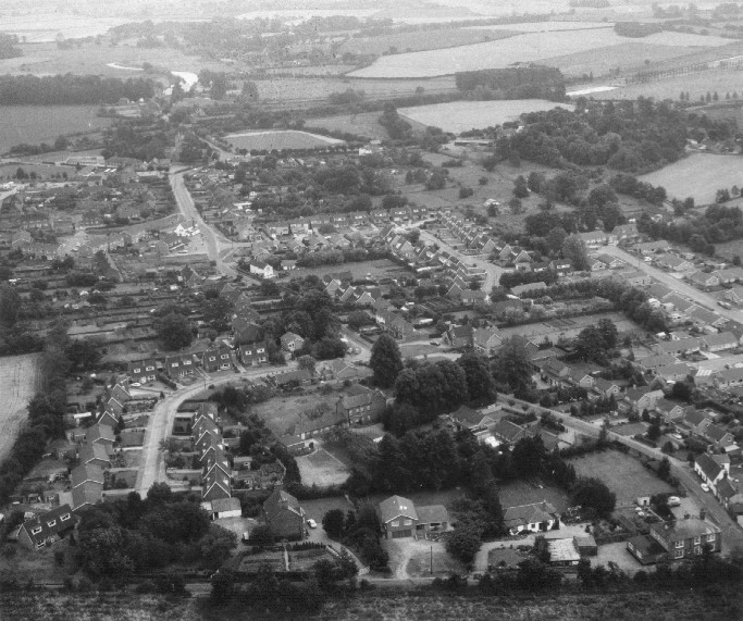 Above Buxton - photo from the air.